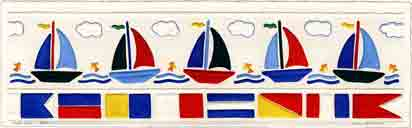 full sail embossed sailboat art and sailboat gifts, sailboat paintings and sailboat prints by artists Jane Billman and Gregg Billman