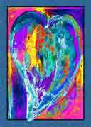 heart abstract hearts art, hearts gifts, hearts prints and hearts paintings, hearts prints by artists Jane Billman and Gregg Billman